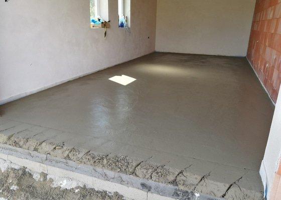 Garáž betonová podlaha 25m RD Kněžmost