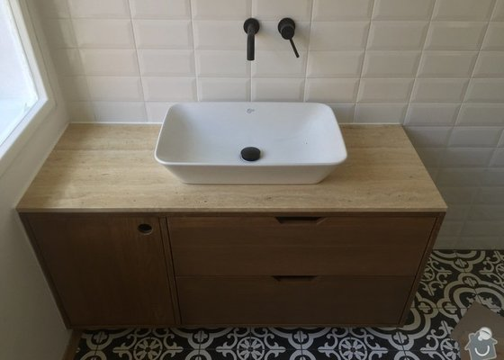 Vyroba drevene koupelnove skrinky 2 x