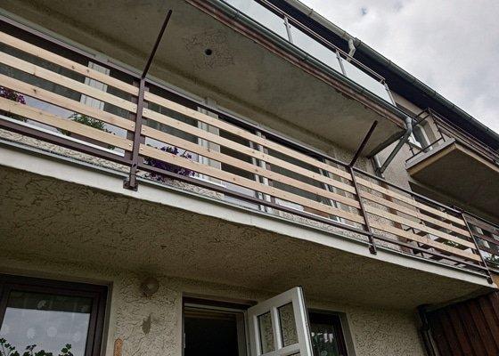 Rekonstrukce dvou balkonů u řadového domu