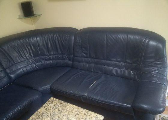 Kožená sedací souprava , oprava-výměna kůže u sedáků