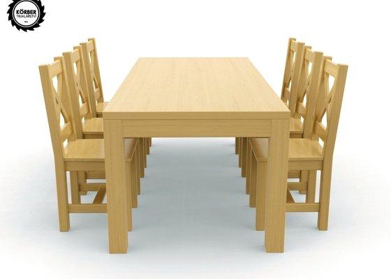 Masivní stůl 90 x 200 cm