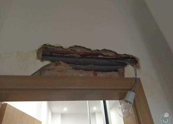 Oprava zdi, vody a instalace světla