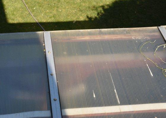 Polykarbonát - oprava střechy pergoly 6,2 x 4 m