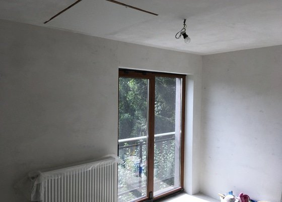 Malování pokoje + benátský štuk