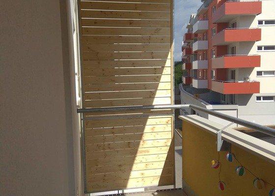 Zástěna balkon