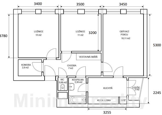 Omítky v panelovém bytě 3+1