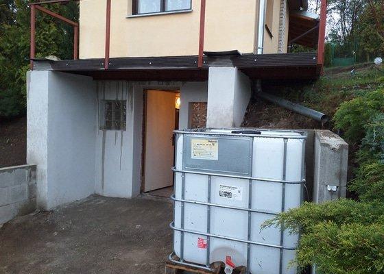 Izolace balkonu  na chatě a úprava okapů