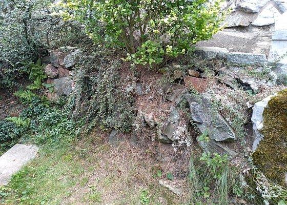 Oprava kamenné zídky Brno - Bystrc