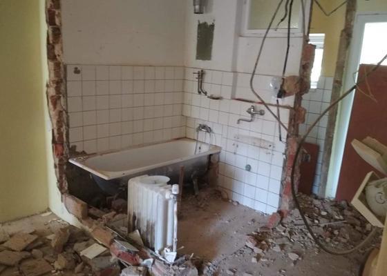 Rekonstrukce bytu 3+1, koupelna, zachod, kuchyn