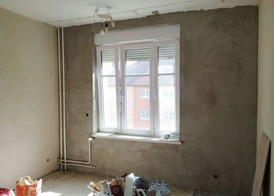 Dokončení omítek v bytě