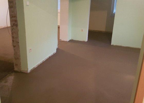 Rekonstrukce podlah v rodinném domě 46m2