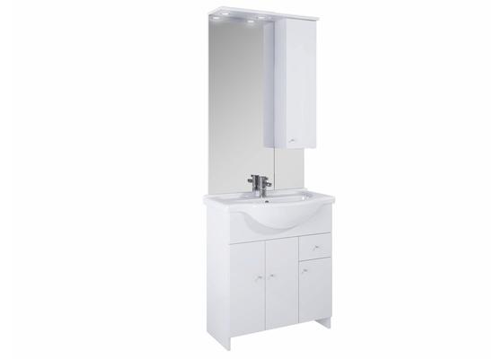Smontování koupelnové skříňky, pověšení zrcadla v koupelně a zapojení světla, které je součástí zrcadlové skříňky