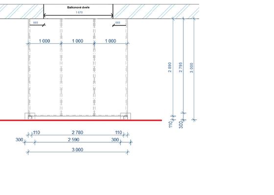 Vybetonovat 2 patky pro instalaci terasove pergoly