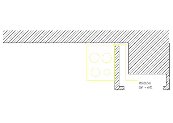 Změna rozvodu plynu v kuchyni (ca. 1 metr)
