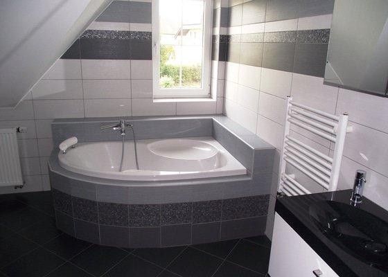 Celkové zhotovení koupelny + obýváku