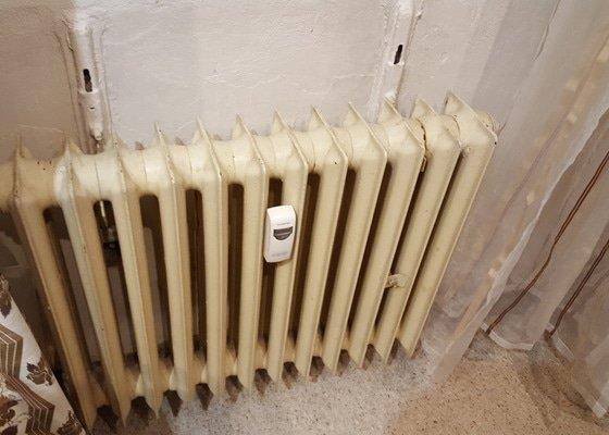 Vymalování části bytu, natření radiátorů