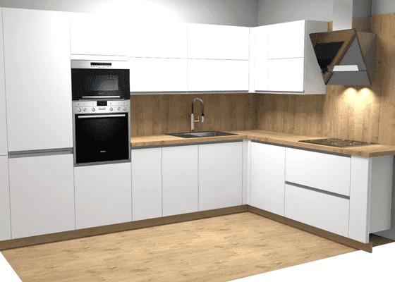 Rekonstrukce jádra a kuchyně na míru v bytě 44m3