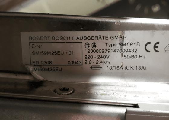 Oprava myčky na nádobí Bosch