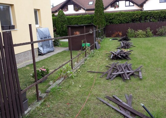 Vymena dreveneho plotu – 33m – Vestec u Prahy
