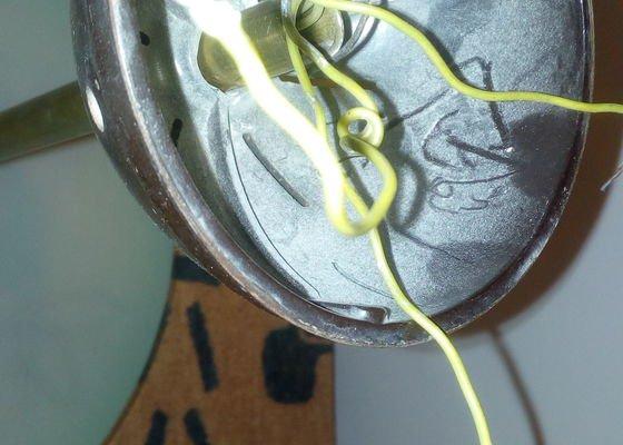 Výměna elektr vedení v retro lustru