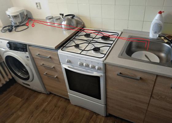 Instalace pračky v kuchyni