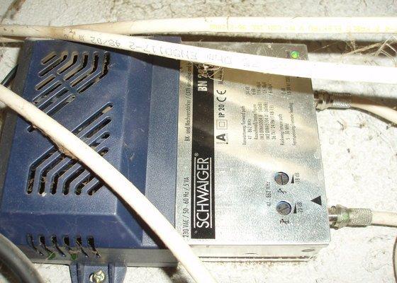 Kontrola antény, zlepšení signálu dohledání kabelu,...