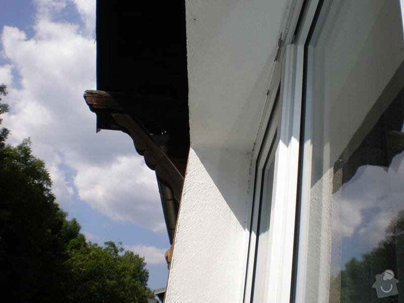 Nátěr střešních trámů: P7161474