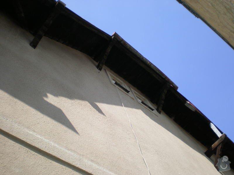 Nátěr střešních trámů: P7161475