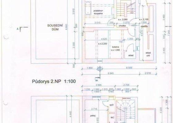 Překreslení stávajícího stavu domu do DWG pro architekta