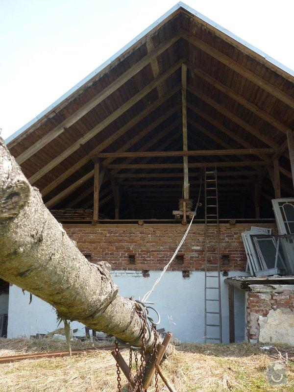 Zkrácení střechy a uzavření štítu : P1020399