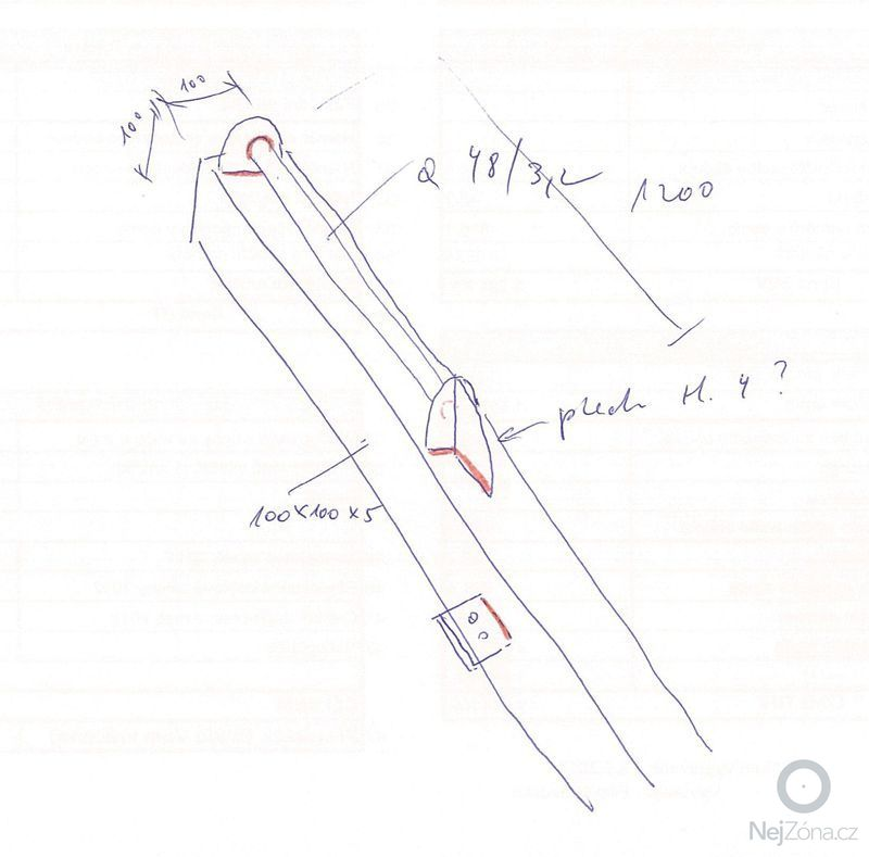Svareni sloupu pro umisteni ramene s kladkostrojem - nutny svarec s particnymi zkouskami!: svarenec