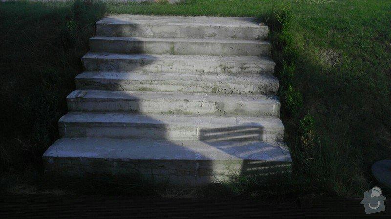 """estetická"" oprava zahr. schodů: schody1"