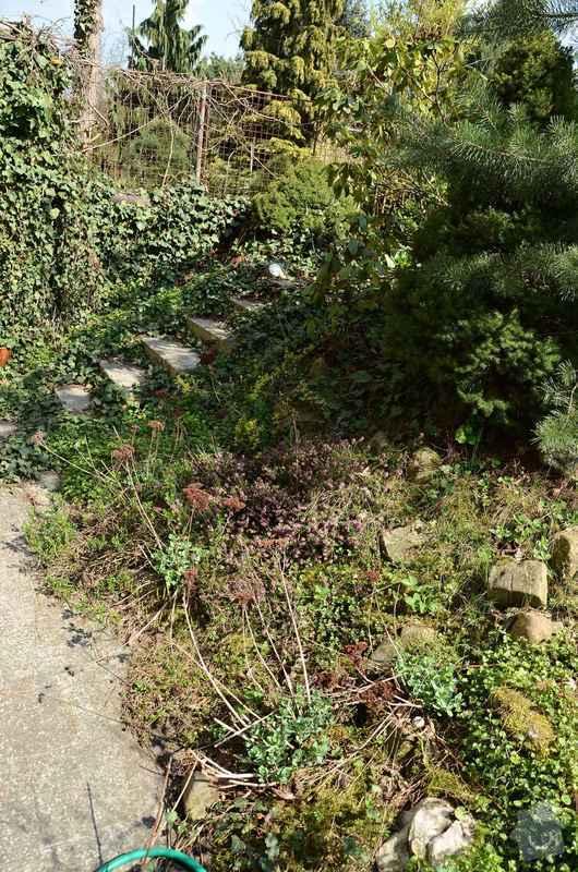 Revitalizace jezírka, skalky a záhonů v horní části zahrady: puvodni_stav_skalky_1