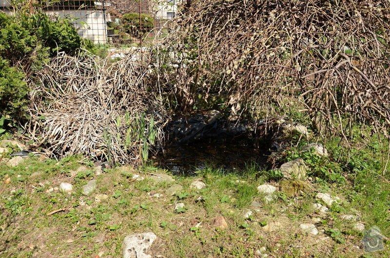 Revitalizace jezírka, skalky a záhonů v horní části zahrady: puvodni_stav_jezirka_1