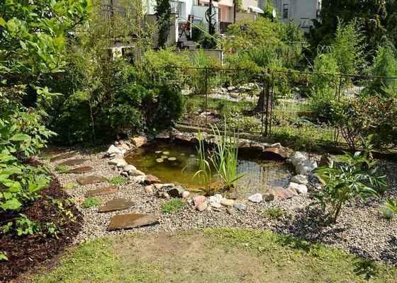 Revitalizace jezírka, skalky a záhonů v horní části zahrady