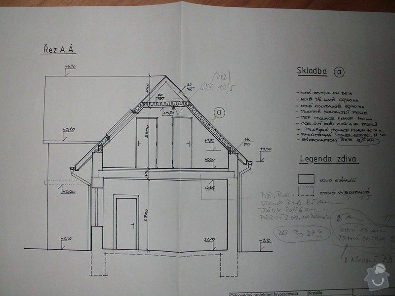 Rekonstrukce podkroví a zvednutí verandy: CIMG4552