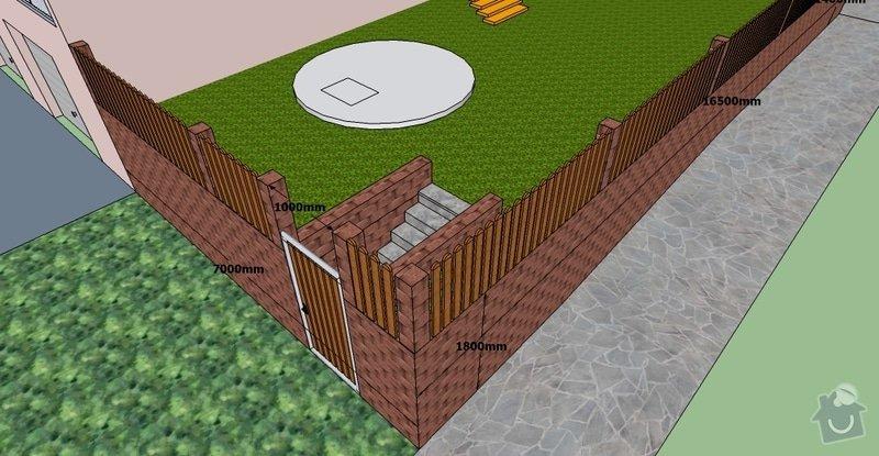 Stavební práce, opěrná zeď a oplocení pozemku: BD10-3.1-6