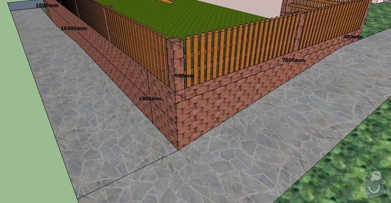Stavební práce, opěrná zeď a oplocení pozemku: BD10-3.1-7