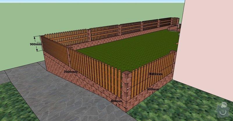 Stavební práce, opěrná zeď a oplocení pozemku: BD10-3.1-8