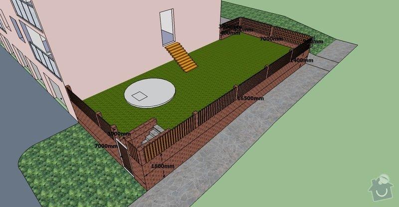 Stavební práce, opěrná zeď a oplocení pozemku: BD10-3.1-9