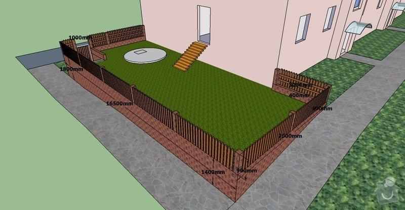 Stavební práce, opěrná zeď a oplocení pozemku: BD10-3.1-10