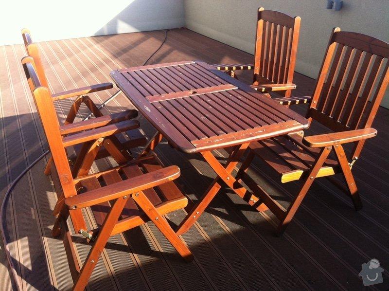 Obnovení vzhledu a lakování dřevěného zahradního nábytku: photo