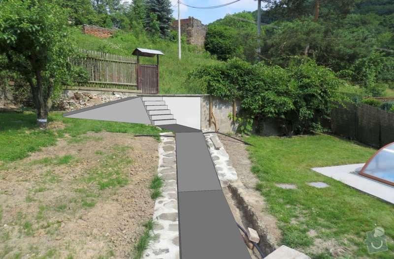 Pokladka dlazby, terenni uprava, venkovni schody: vizo2-1600