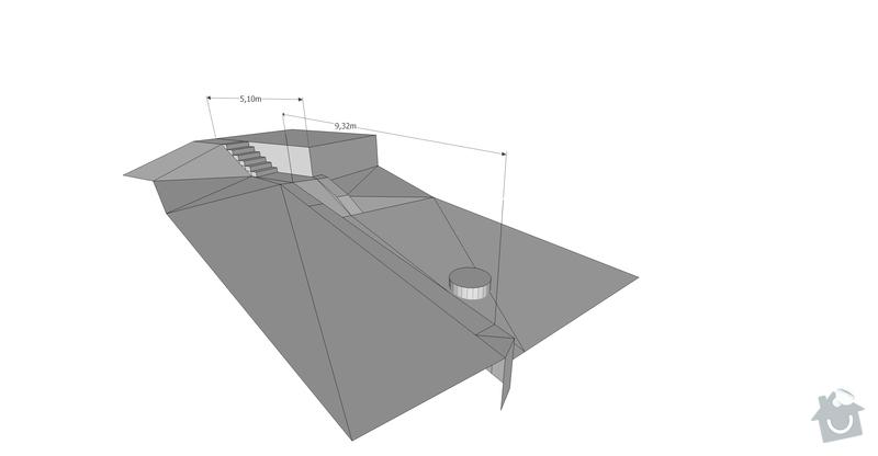 Pokladka dlazby, terenni uprava, venkovni schody: vizo3