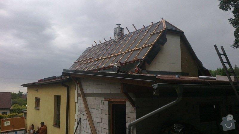 Zhotovení střechy: 2013-07-11-327