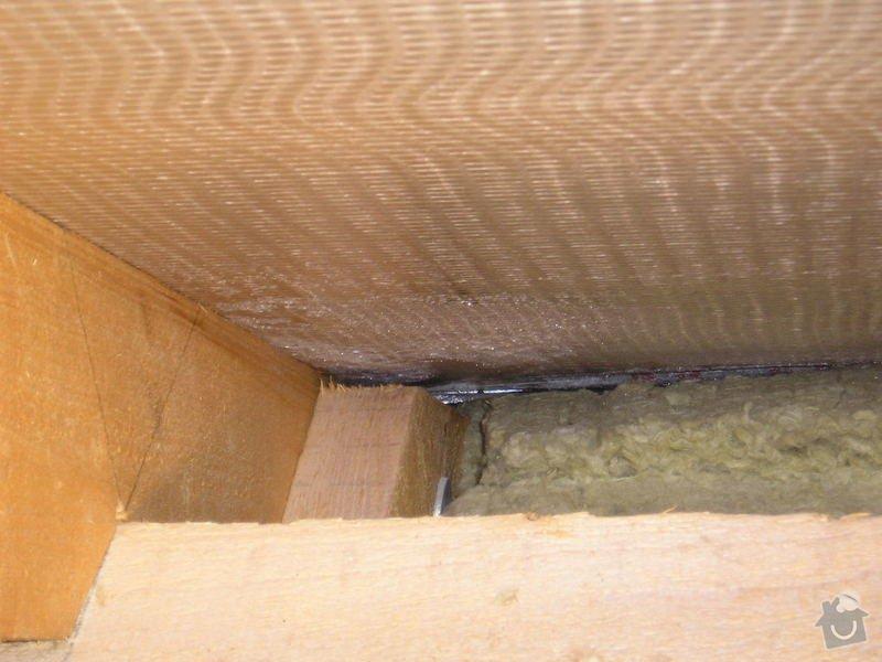 Oprava tepelné izolace s výměnou folie ve střeše: poptavka2