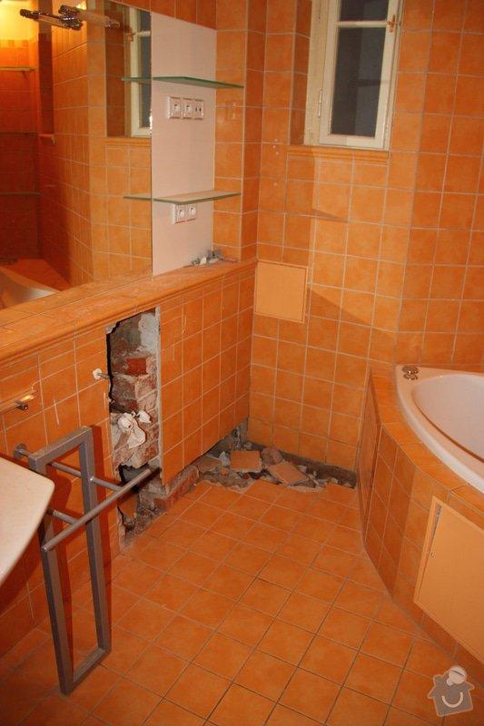 Obkladačské, zednické a instalatérské práce v koupelně: IMG_6606