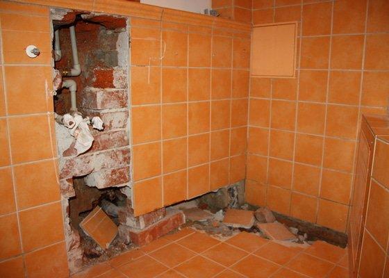 Obkladačské, zednické a instalatérské práce v koupelně