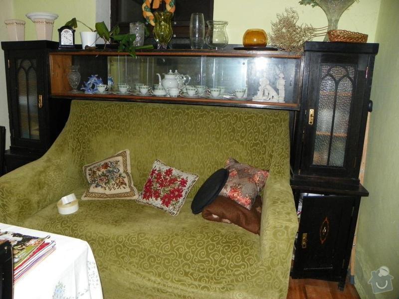 Ošetření starožitného nábytku jídelny a ložnice x červotočům, vč.renovace: gaucova_stena