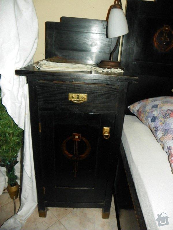 Ošetření starožitného nábytku jídelny a ložnice x červotočům, vč.renovace: nocni_stolek